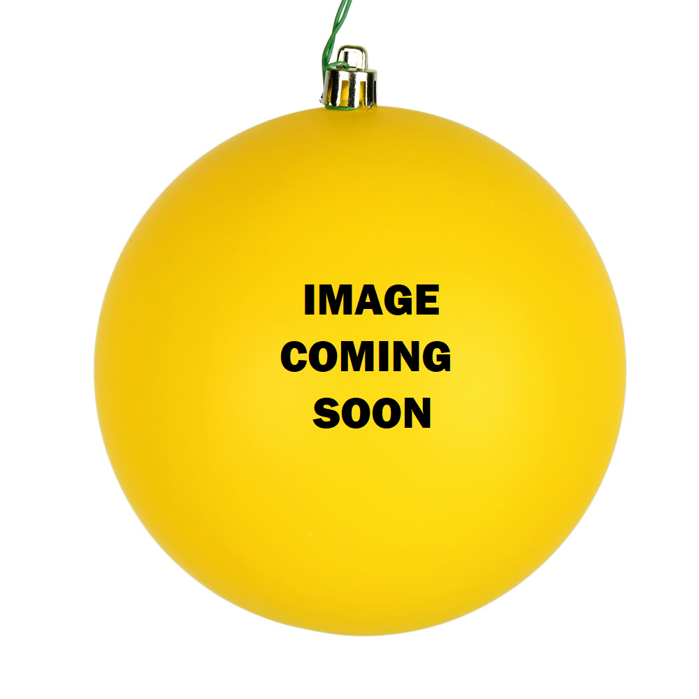 12 Inch Yellow Candy Christmas Ball Ornament with Drilled Cap
