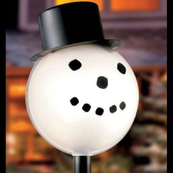 Snowman LampLighter Lamp Post Light Cover Outdoor Christmas Decoration