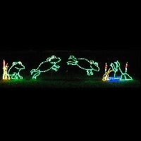 Frogs Jumping Animated LED Lighted Marine Decoration