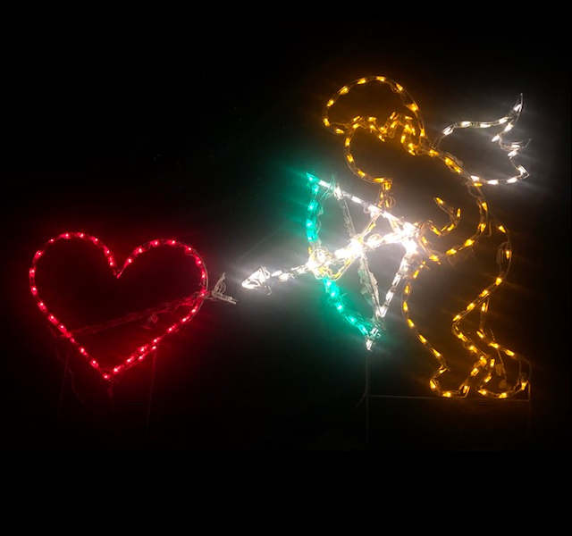 Cupids Arrow Animated LED Lighted Outdoor Valentines Day Decoration