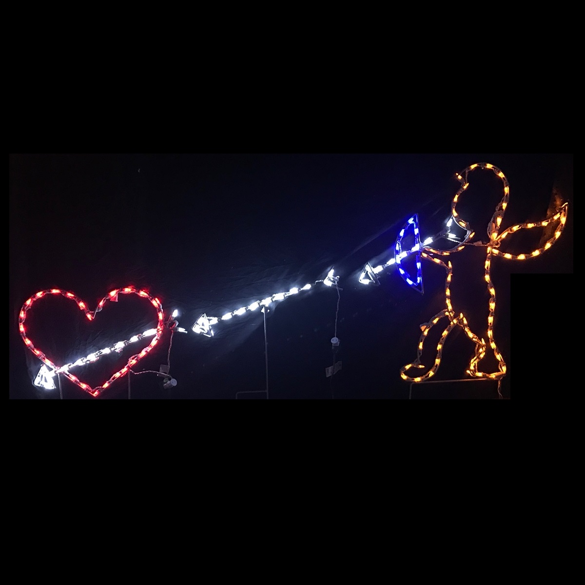 Cupid Shooting Heart Animated LED Lighted Valentines Day Decoration