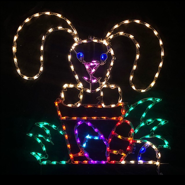 Bunny in Pot LED Lighted Easter Decoration