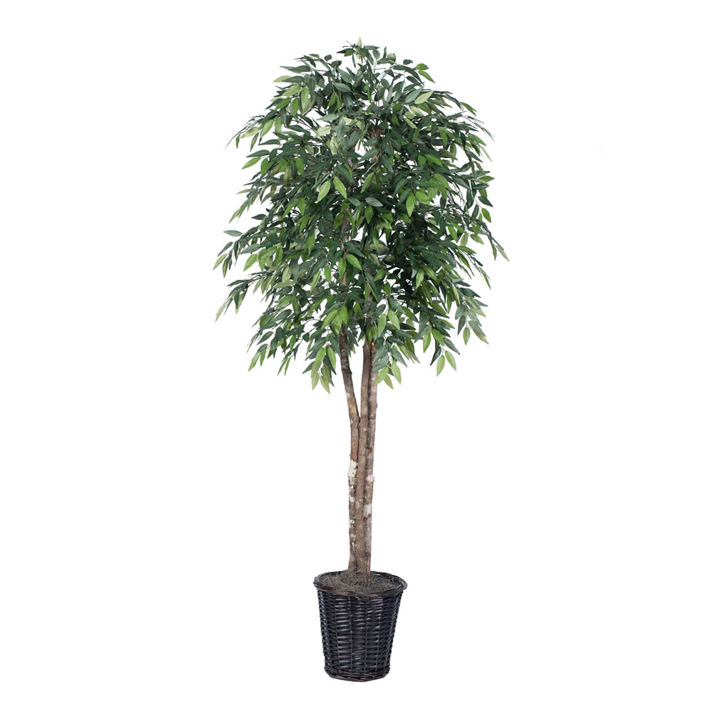 6 Foot Smilax Green Deluxe Artificial Potted Floor Plant