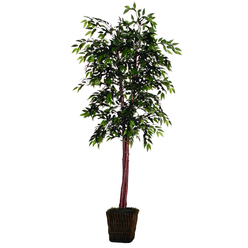 6 Foot Deluxe Green Smilax Artificial Potted Floor Plant