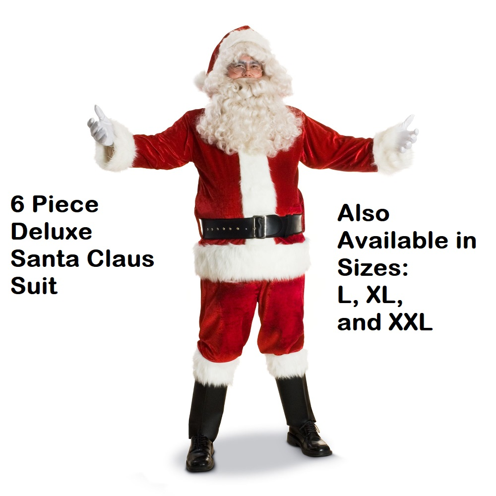 Deluxe Santa Claus Suit Large