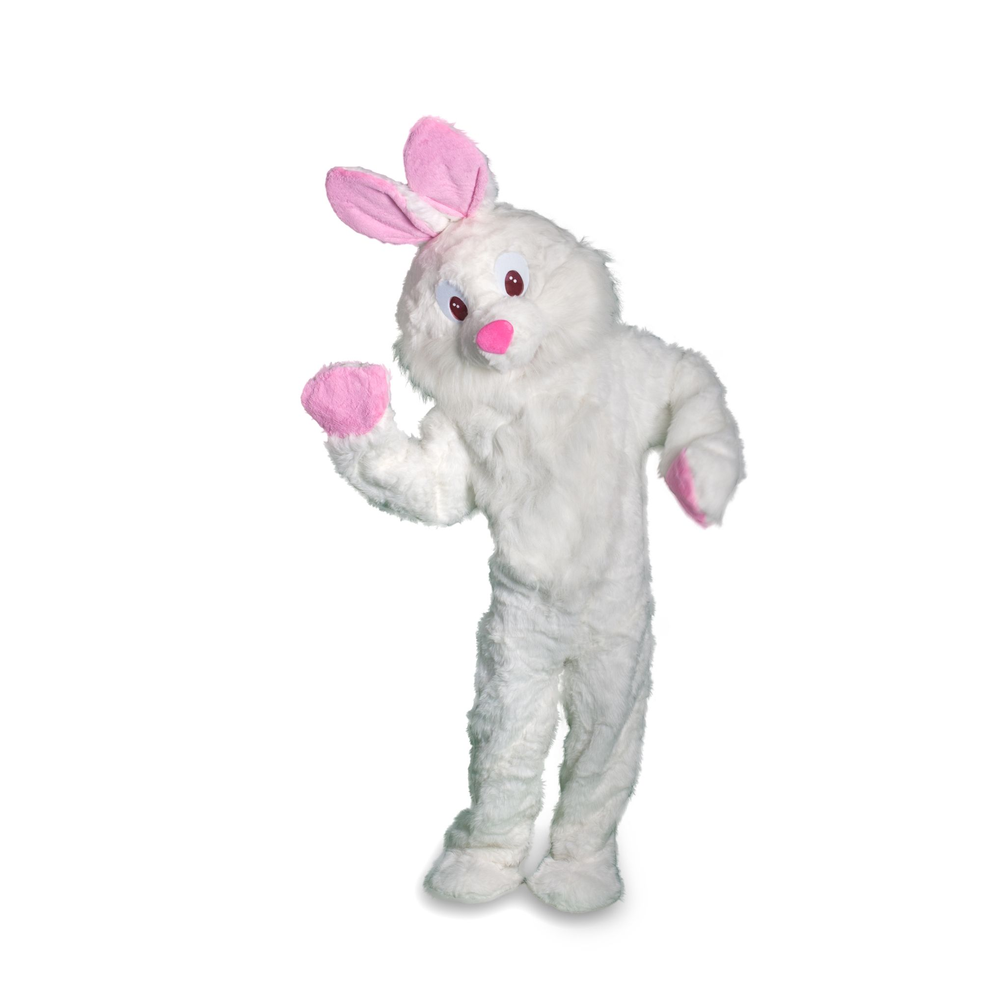 Rabbit Mascot Long Hair Easter Costume