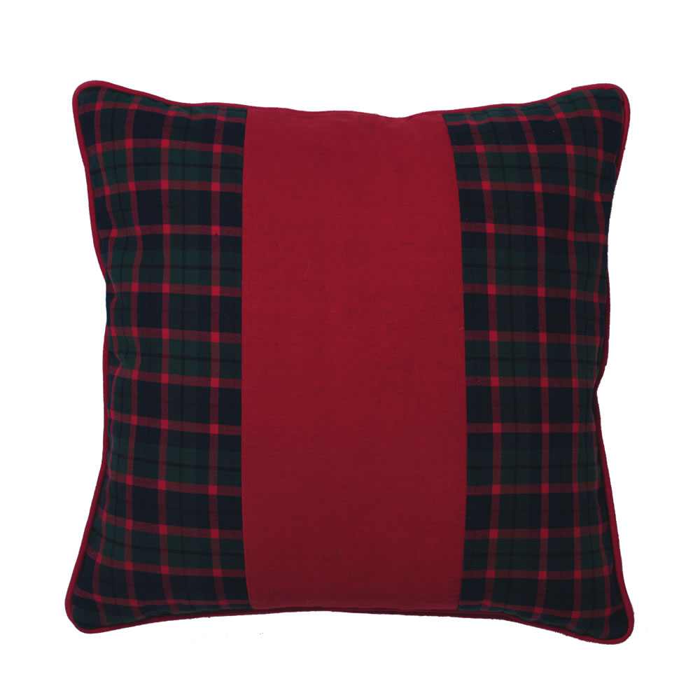 Traditional Highlands Holiday Plaid Decorative Christmas Pillow