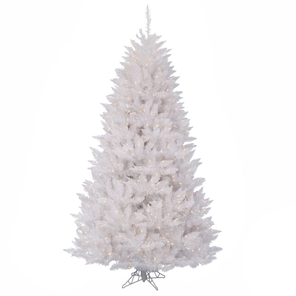 12 Foot Sparkle White Spruce Artificial Christmas Tree 1600 DuraLit Incandescent Clear Mini Lights