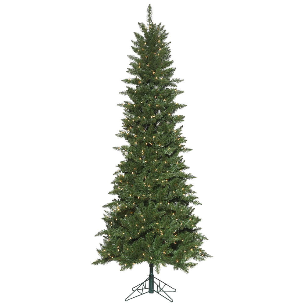 7.5 Foot Chaska Pencil Pine EZ Plug Artificial Christmas Tree 500 DuraLit Incandescent Clear Mini Lights