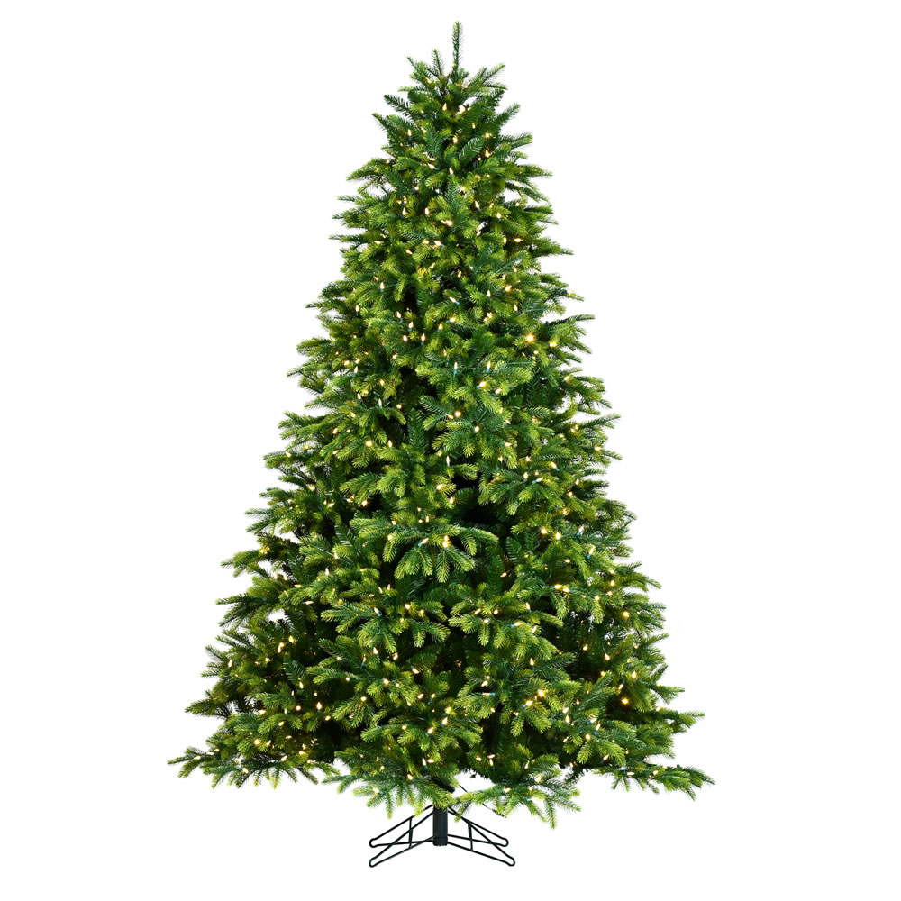 4.5 Foot Deluxe Balsam Artificial Christmas Tree 350 Dura-Lit LED Warm White/Multi-Colored 8 Function Changing Mini Lights