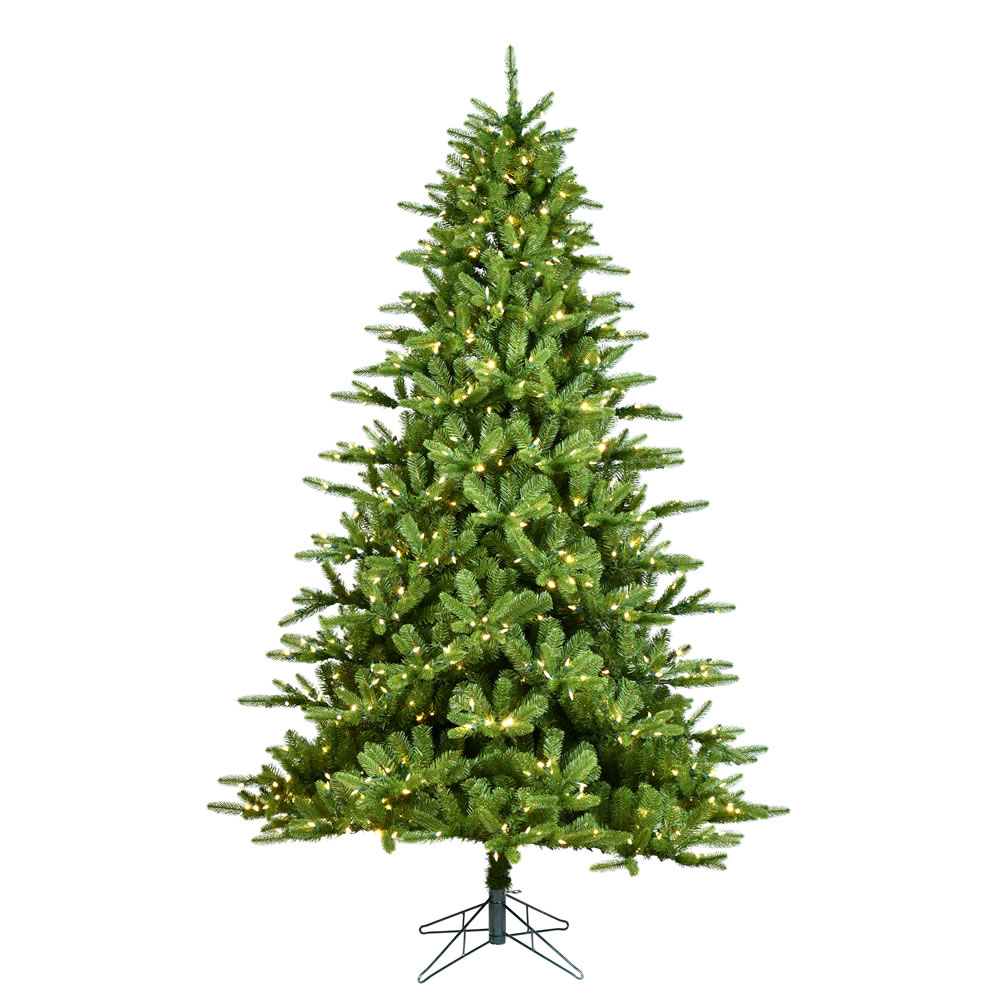 5.5 Foot Langhorne Artificial Christmas Tree 450 Dura-Lit LED Warm White/Multi-Colored 8 Function Changing Mini Lights