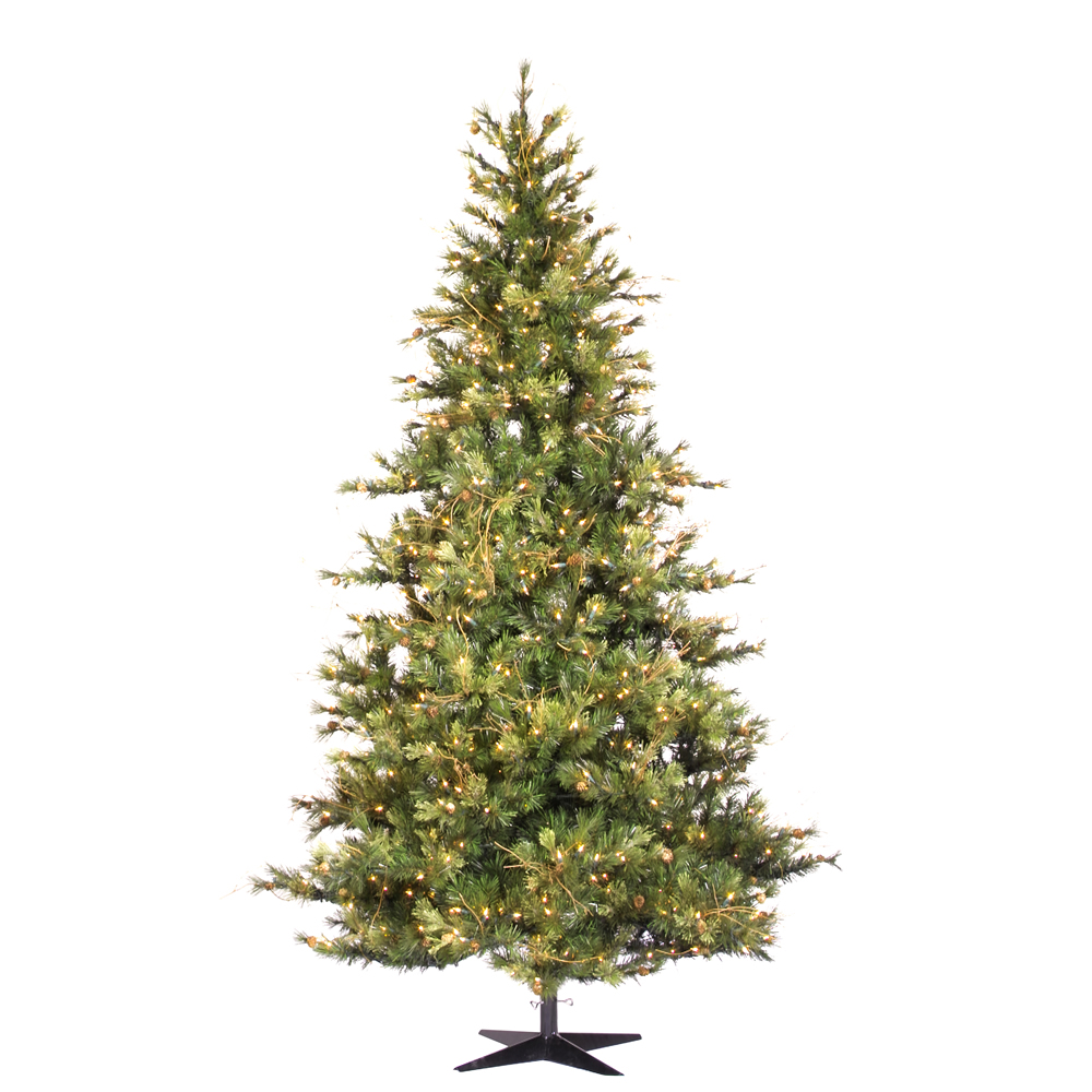 14 Foot Slim Mixed Country Pine Artificial Christmas Tree Unlit