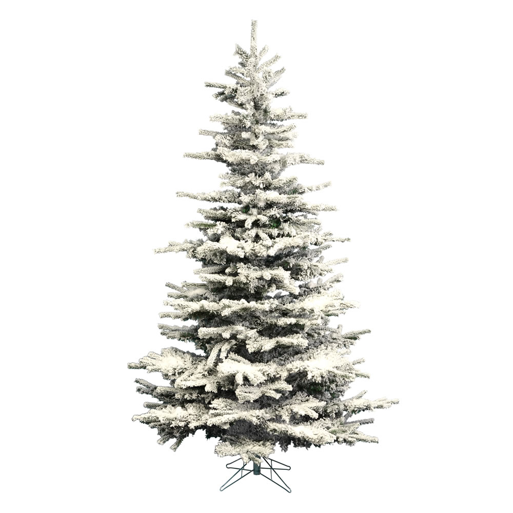 14 Foot Flocked Sierra Fir Artificial Christmas Tree Unlit