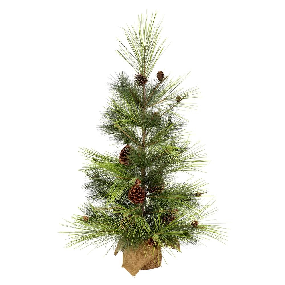 3 Foot Larkspur Pine Artificial Christmas Tree Unlit Burlap Base
