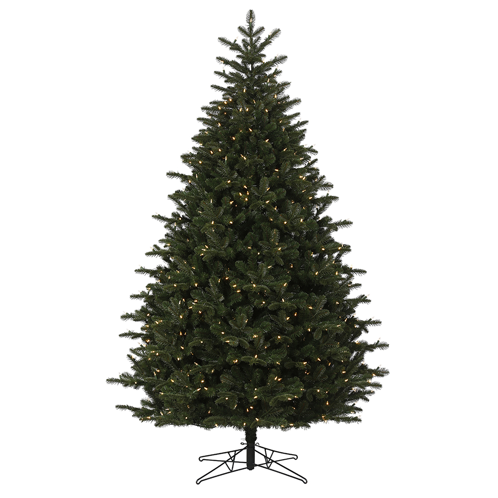 8.5 Foot Summit Noble Fir Artificial Christmas Tree 1000 DuraLit LED M5 Italian Warm White Mini Lights