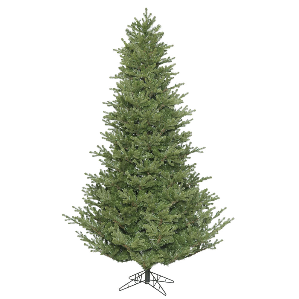 8.5 Foot x 68 Inch Lexington Spruce Unlit 4172T PVC PE Molded Tips, Metal Hinged Branches, Folding Metal Stand