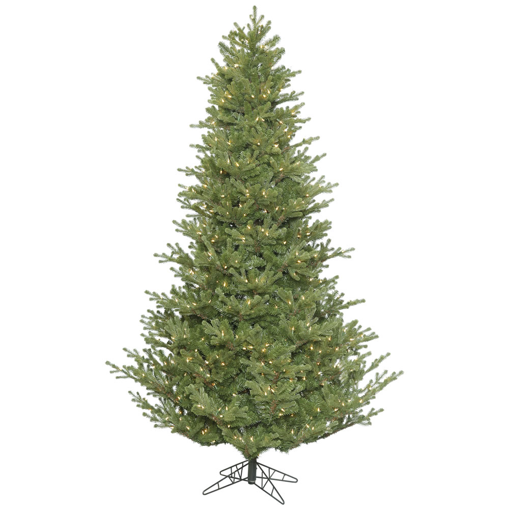 8.5 Foot x 68 Inch Lexington Spruce Tree, 4172 PVC PE Molded Tips, Metal Hinged Branches, Folding Metal Stand