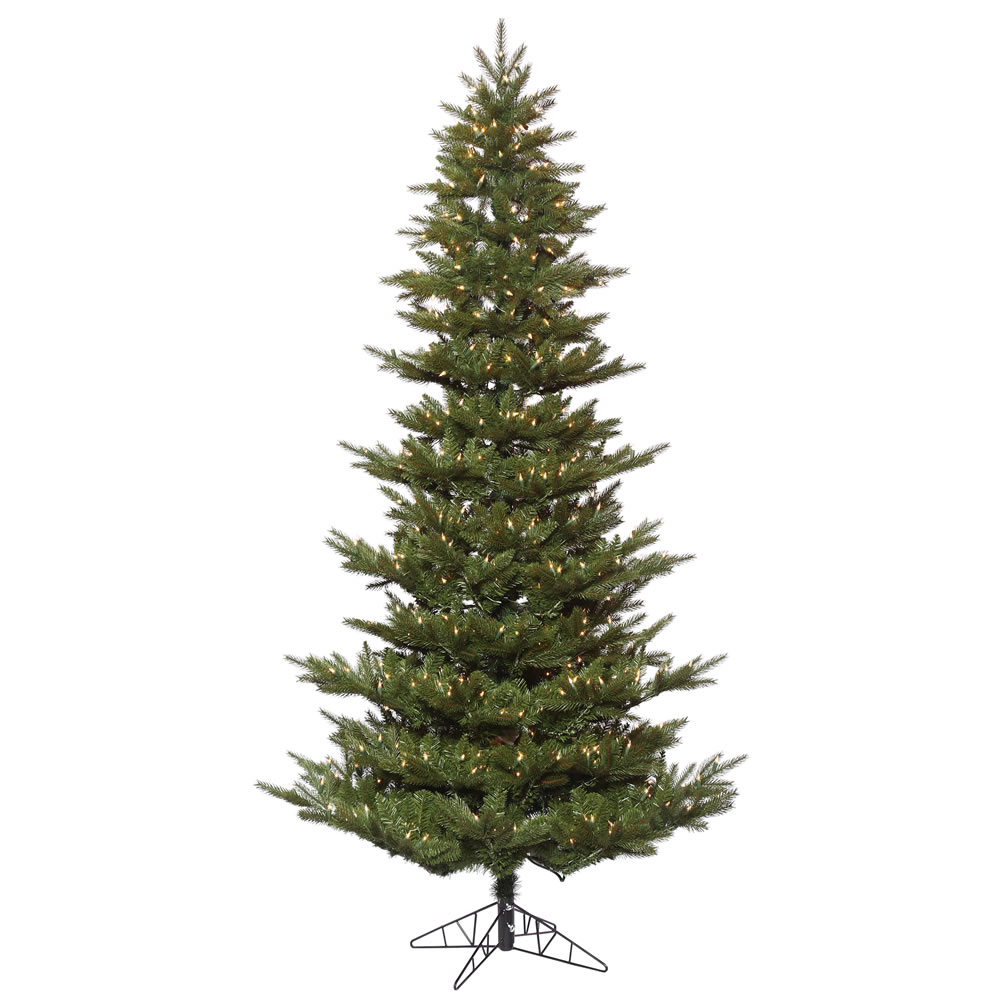 6.5 Foot Carlsbad Fir Artificial Christmas Tree 500 DuraLit Incandescent Clear Mini Lights