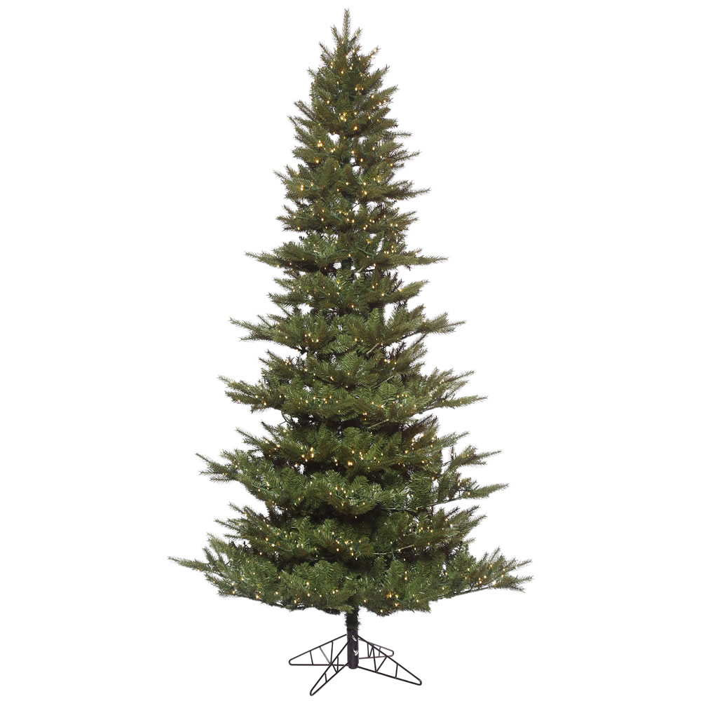 10 Foot Carlsbad Fir Artificial Christmas Tree 2400 Low Voltage LED 3MM Micro Warm White Lights
