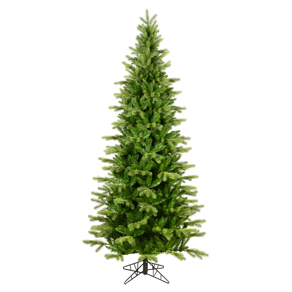7.5 Foot Balsam Spruce Slim Artificial Christmas Tree 450 DuraLit LED M5 Italian Multi Color Mini Lights