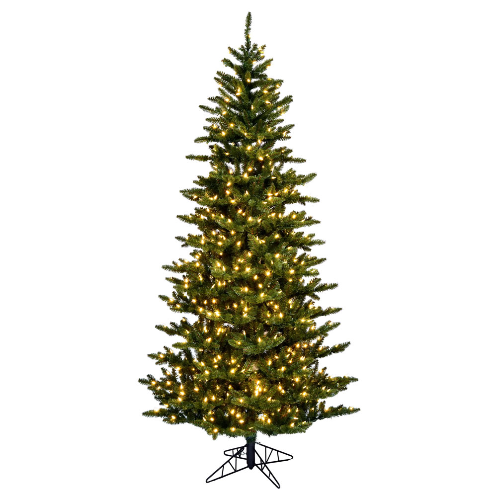 4.5 Foot Natural Fraser Slim Artificial Christmas Tree 250 LED M5 Italian Warm White Mini Lights