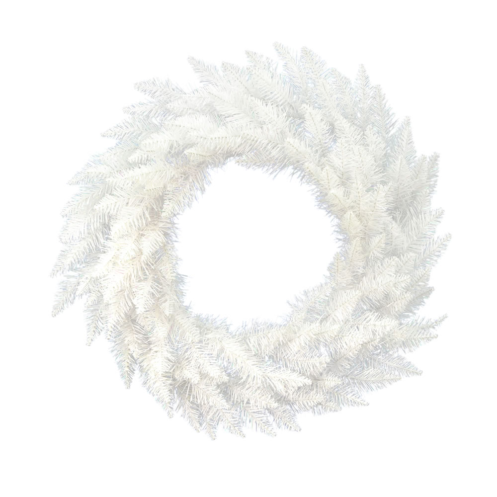 6 Foot Sparkle White Spruce Artificial Christmas Wreath Unlit