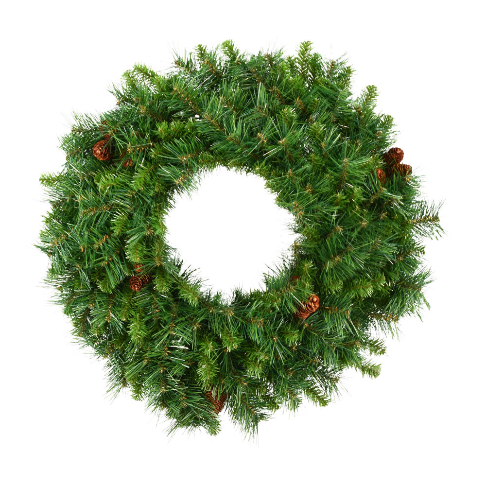 6 Foot Cheyenne Pine Artificial Christmas Wreath Unlit