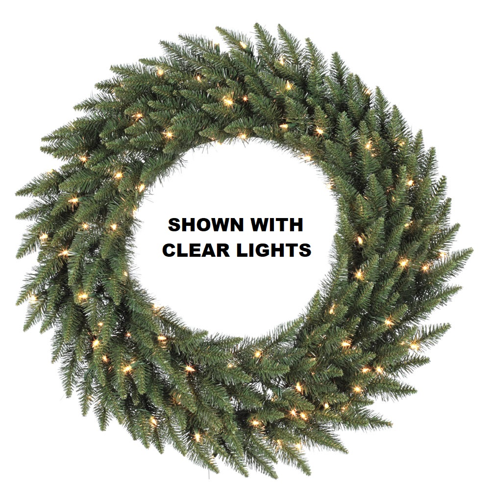 10 Foot Camdon Fir Artificial Christmas Wreath 1200 DuraLit LED M5 Italian Multi Color Mini Lights