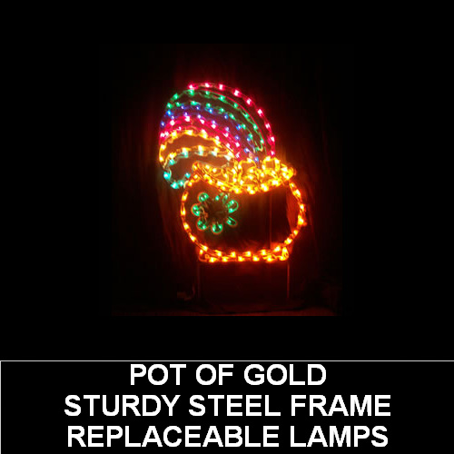 Pot of Gold LED Lighted Outdoor Saint Patricks Day Decoration