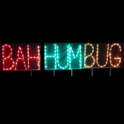 BAH HUM BUG LED Lighted Outdoor Christmas Decoration