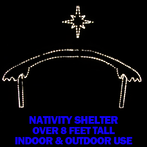 Nativity Manger with Star LED Lighted Lawn Decoration