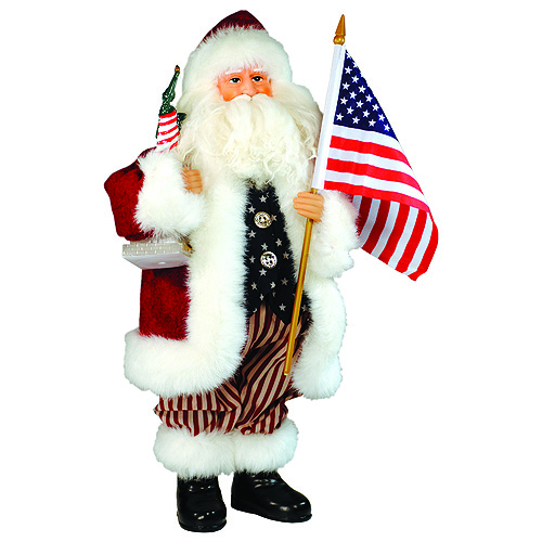 Patriotic American Santa Decoration