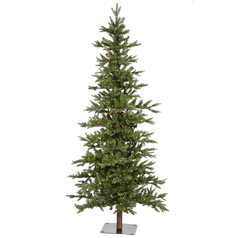 6 Foot Shawnee Fir Alpine Artificial Christmas Tree 250 DuraLit Incandescent Clear Mini Lights