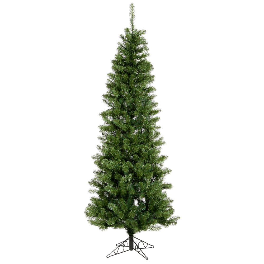 7.5 Foot Salem Pencil Pine Artificial Christmas Tree Unlit