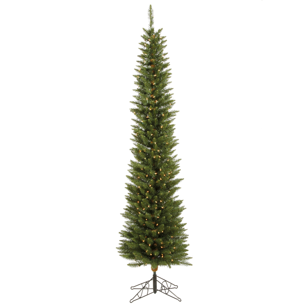 6.5 Foot Durham Pole Artificial Christmas Tree 200 DuraLit Incandescent Clear Mini Lights