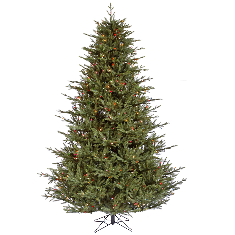 8.5 Foot Itasca Frasier Fir Artificial Christmas Tree 1000 LED M5 Italian Mu Light i Color Lights