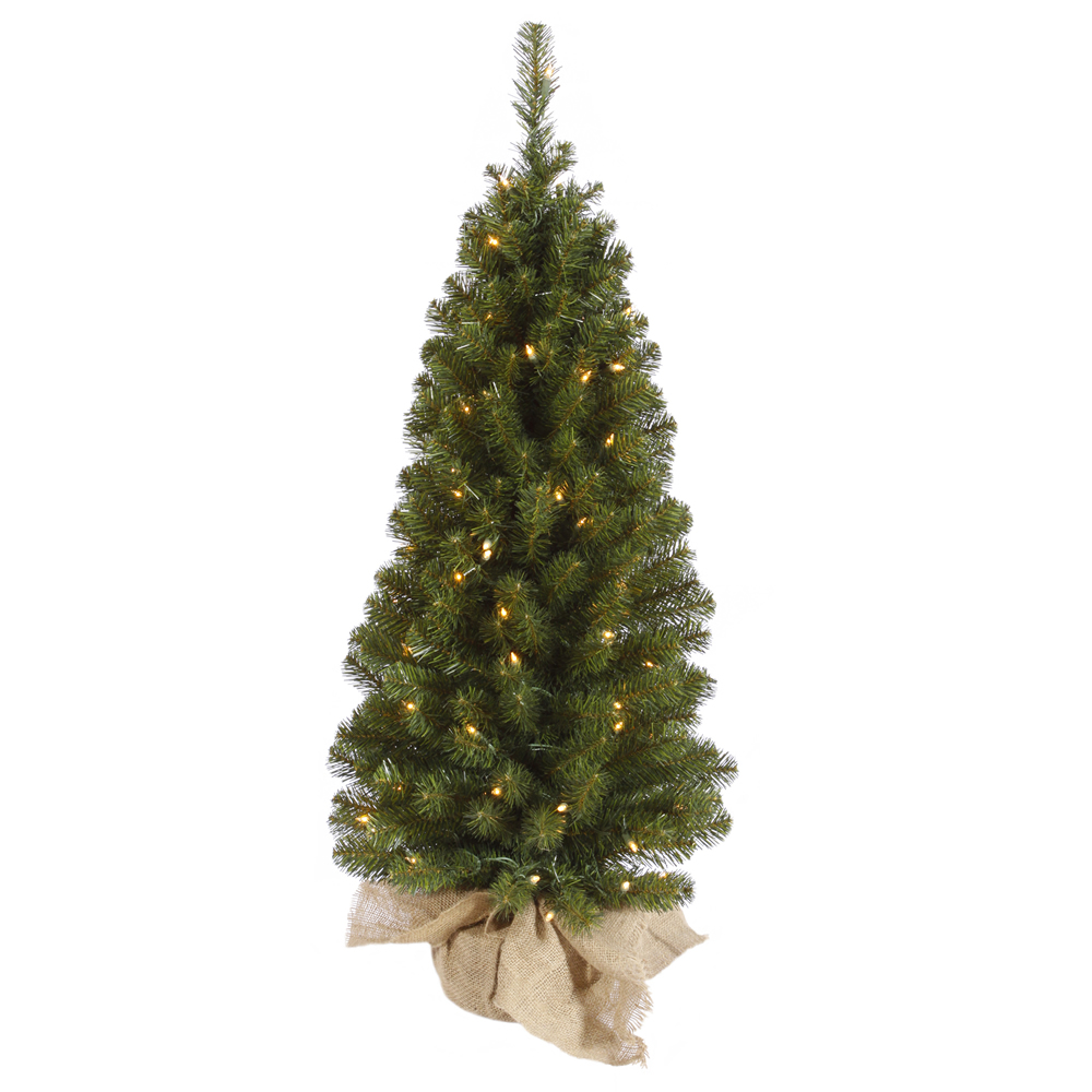 3 Foot Felton Pine Artificial Christmas Tree 50 Incandescent Clear Mini Lights