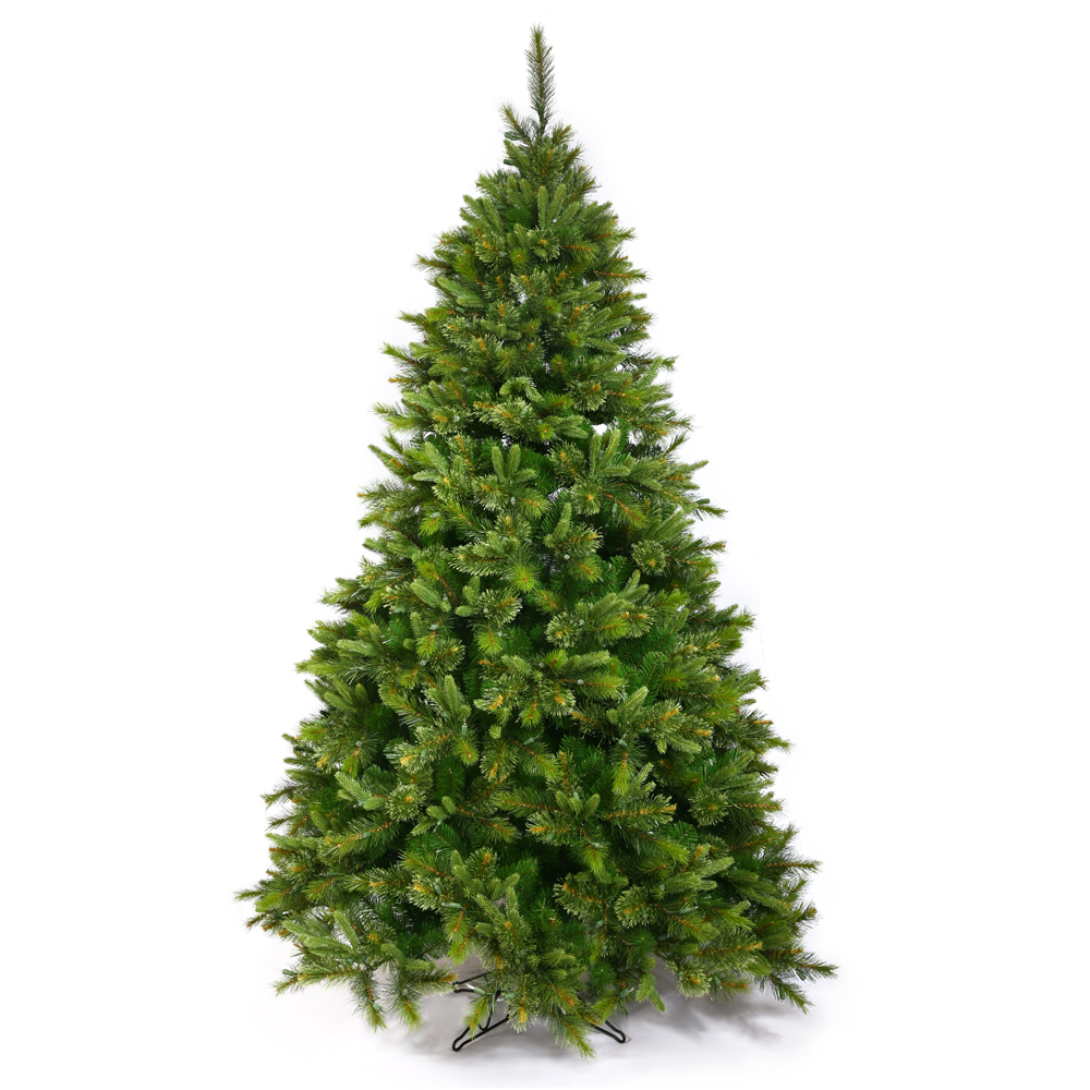 8.5 Foot Cashmere Slim Artificial Christmas Tree 750 DuraLit Multi Color Lights