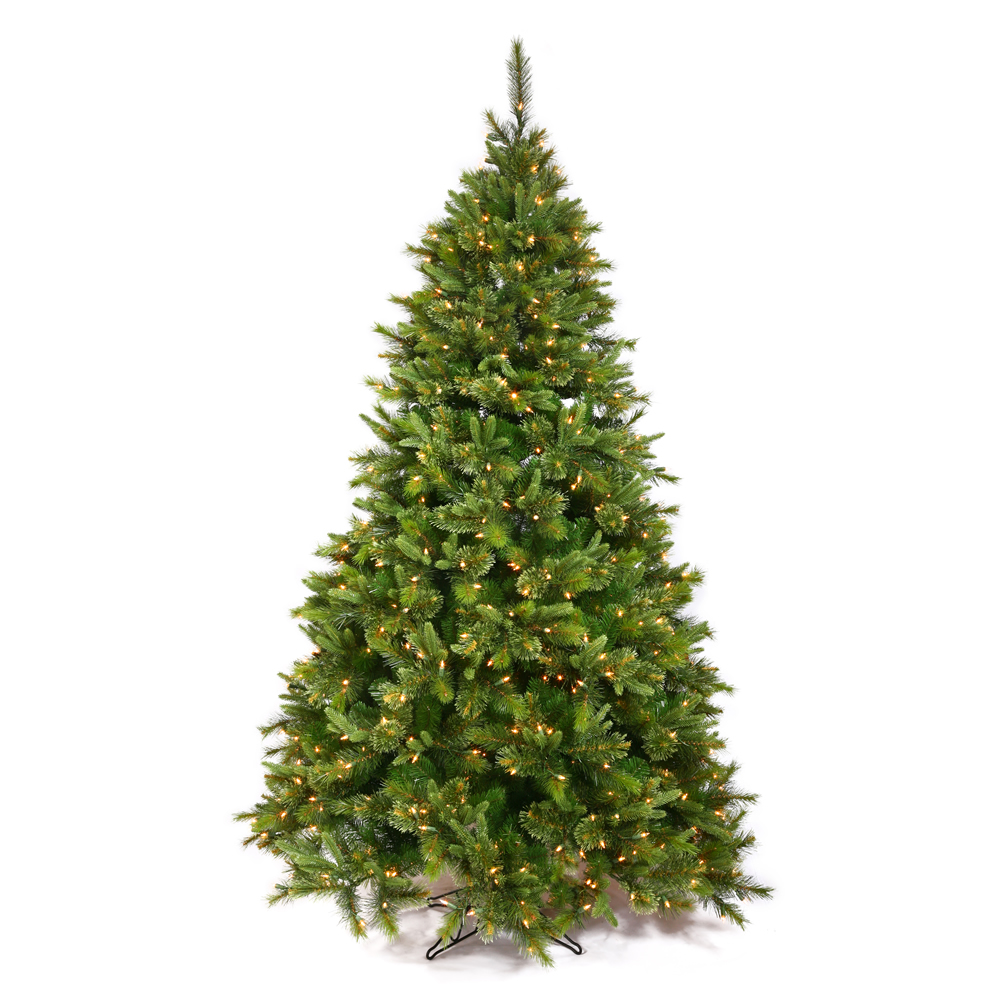 7.5 Foot Cashmere Pine Artificial Christmas Tree 700 LED M5 Italian Multi Color Lights