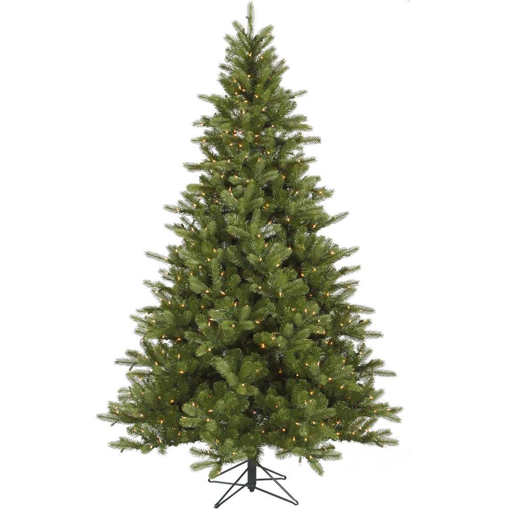 6.5 Foot King Spruce Artificial Christmas Tree 350 DuraLit Incandescent Clear Mini Lights
