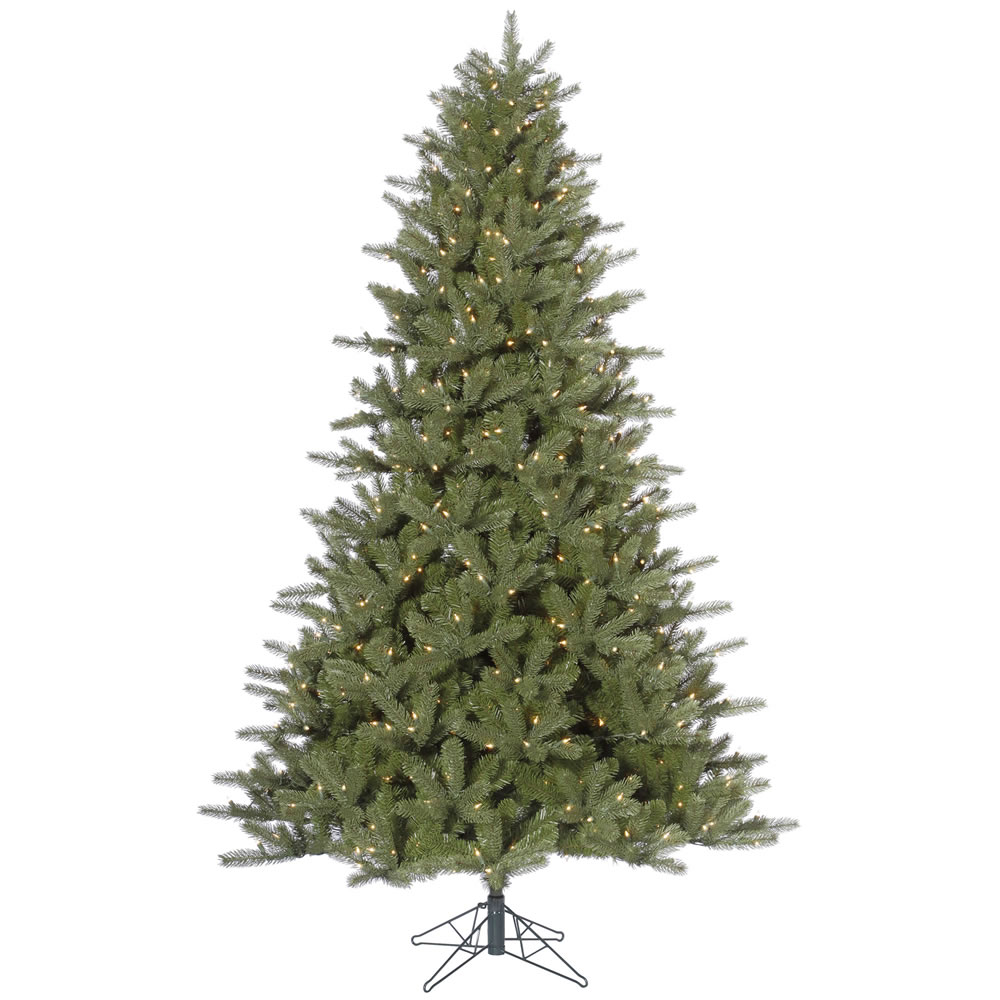 12 Foot Kennedy Fir Artificial Christmas Tree 2050 DuraLit Incandescent Clear Mini Lights