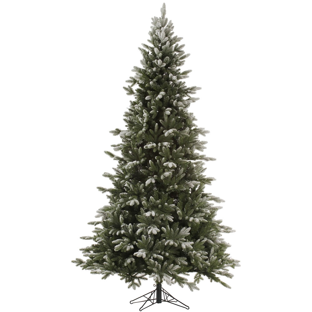 7.5 Foot Frosted Balsam Fir Artificial Christmas Tree Unlit