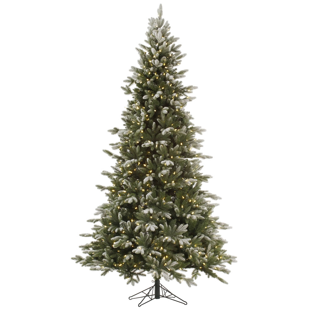 7.5 Foot Frosted Balsam Fir Artificial Christmas Tree 750 DuraLit Incandescent Clear Mini Lights