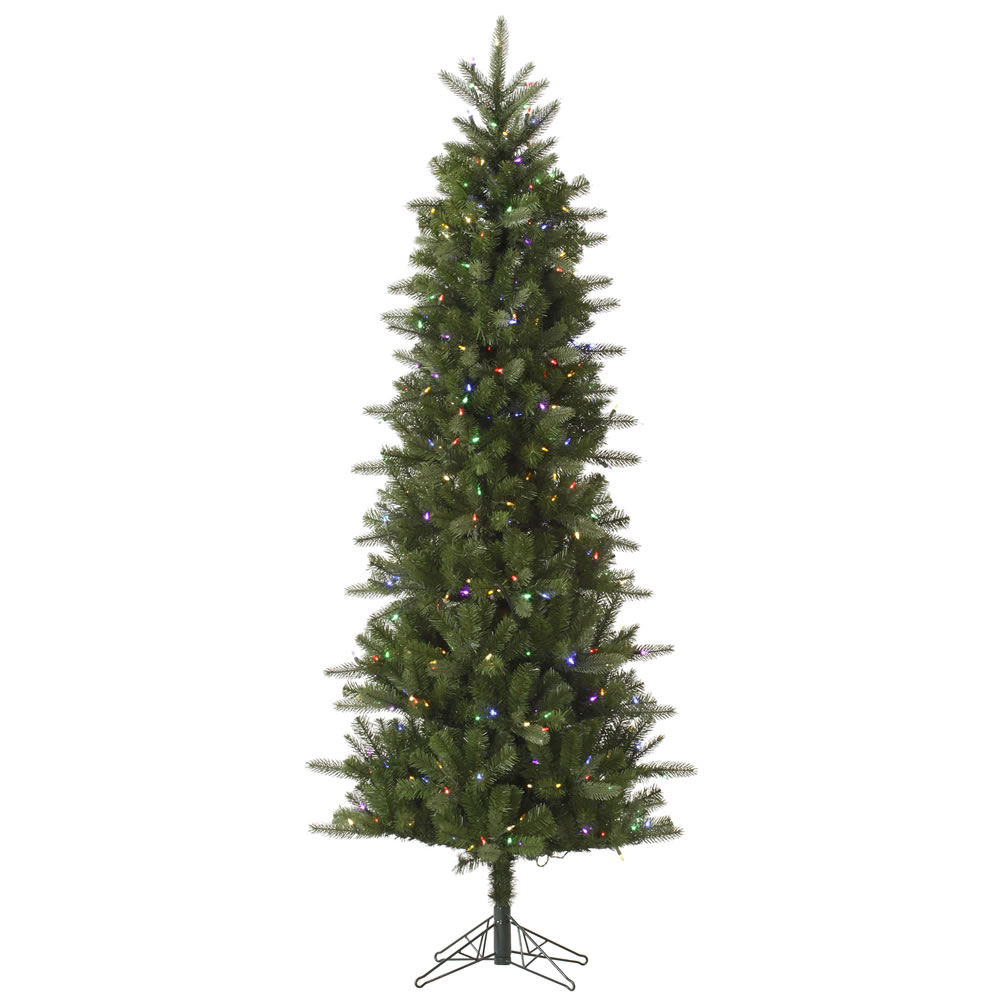 10 Foot Carolina Pencil Spruce Artificial Christmas Tree 550 LED M5 Italian Multi Color Lights