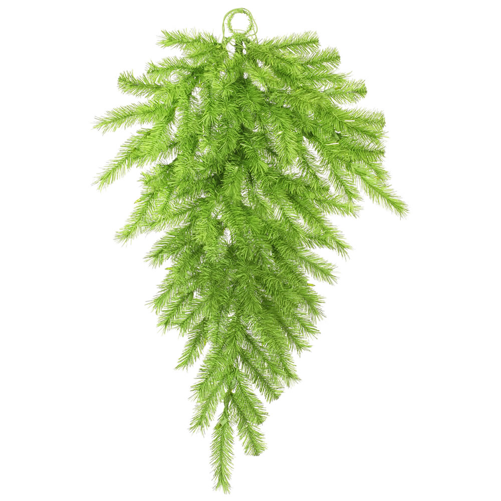 36 Inch Lime Green Tinsel Artificial Halloween Teardrop Unlit