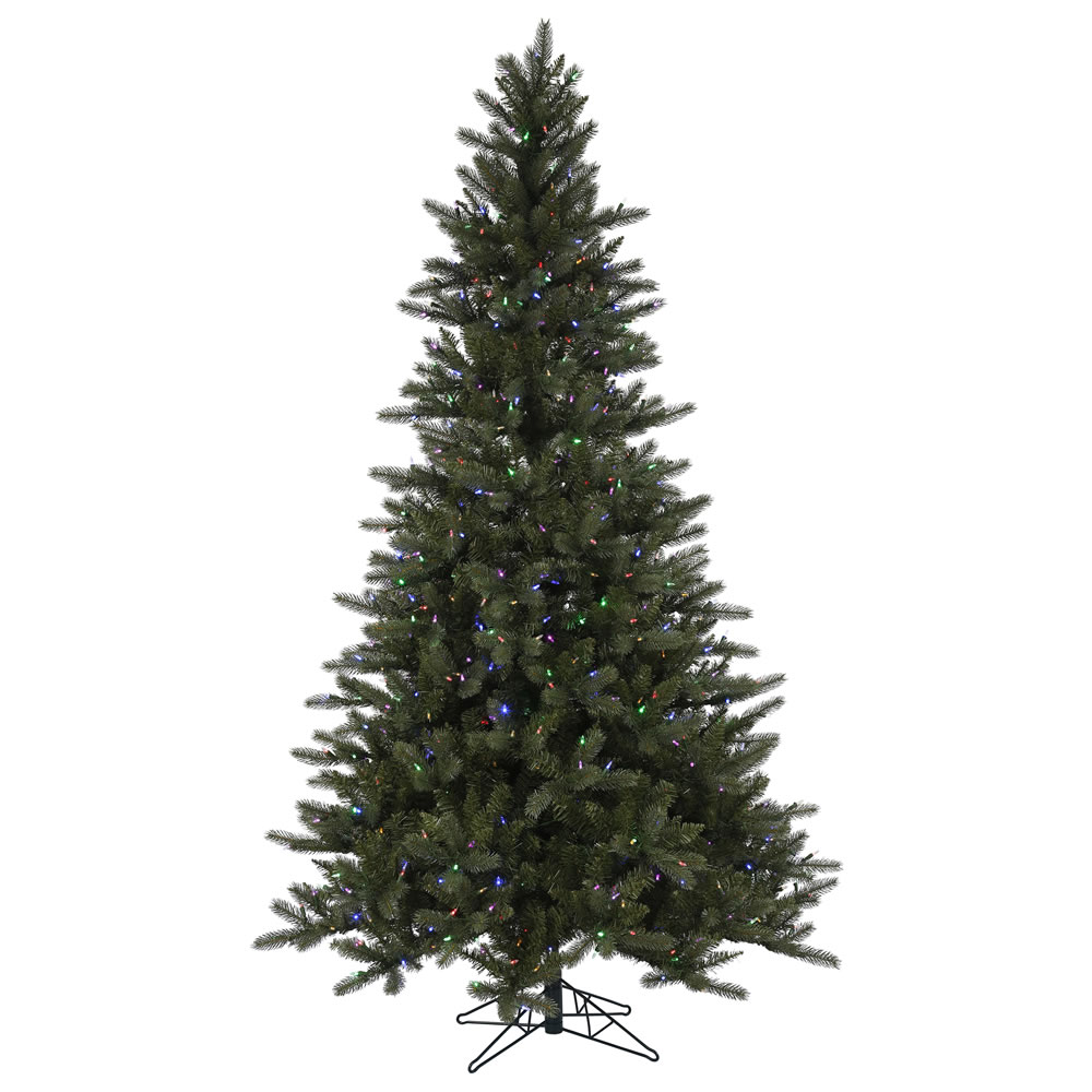 9 Foot Spokane EZ Plug Instant Shape Artificial Christmas Tree 900 LED Color Changing Mini Lights