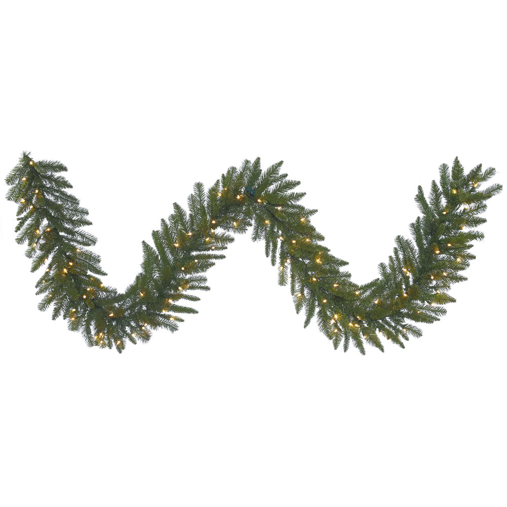 9 Foot Durango Spruce Artificial Christmas Garland 100 DuraLit Incandescent Clear Mini Lights