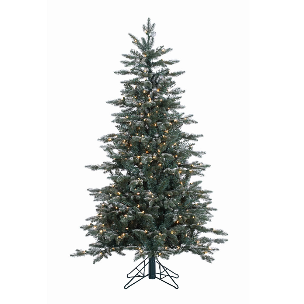 5 Foot Crystal Balsam Artificial Christmas Tree 300 DuraLit Clear Lights