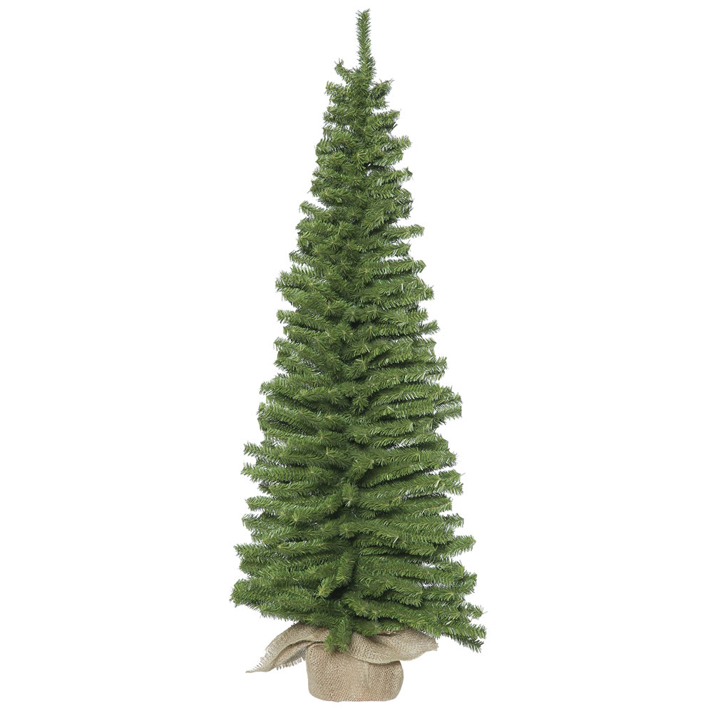 48 Inch Unlit Mini Pine Artificial Christmas Tree Burlap Base