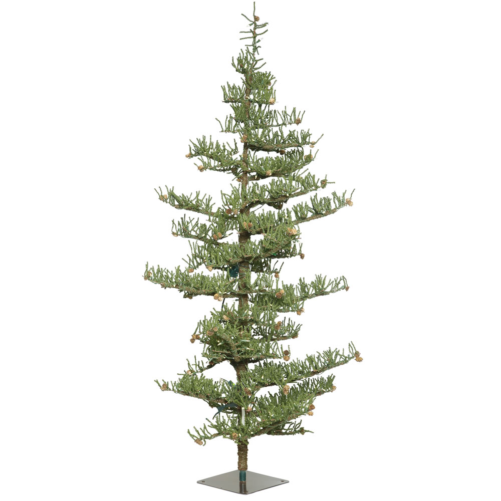 7.5 Crestview Pine Artificial Christmas Tree 250 LED Warm White Italian Style Lights